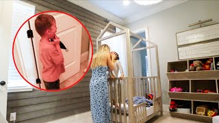 getting rid of the crib, new bedroom arrangements and Jackson's reaction!!