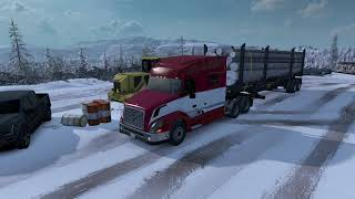 A trip on the ATS map using the Frosty Winter Weather Mod.  Frosty v3.0 https://grimesmods.wordpress.com/2017/05/04/frosty-winter-weather-mod-ats/