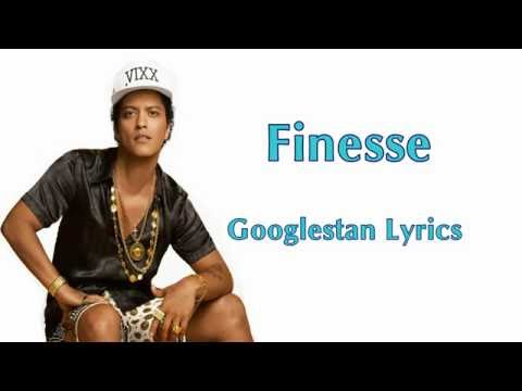Bruno Mars Finesse Lyrics video
