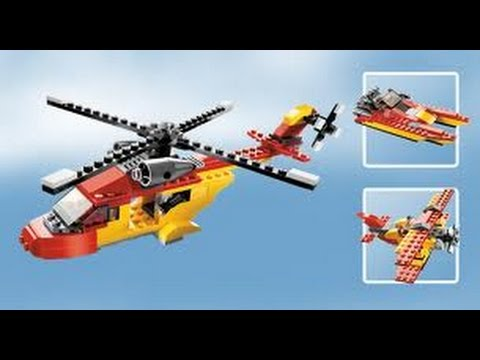 Building Lego 5866 Rotor Rescue Helicopter Youtube