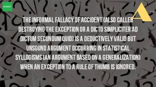 What Is The Fallacy Of Accident?