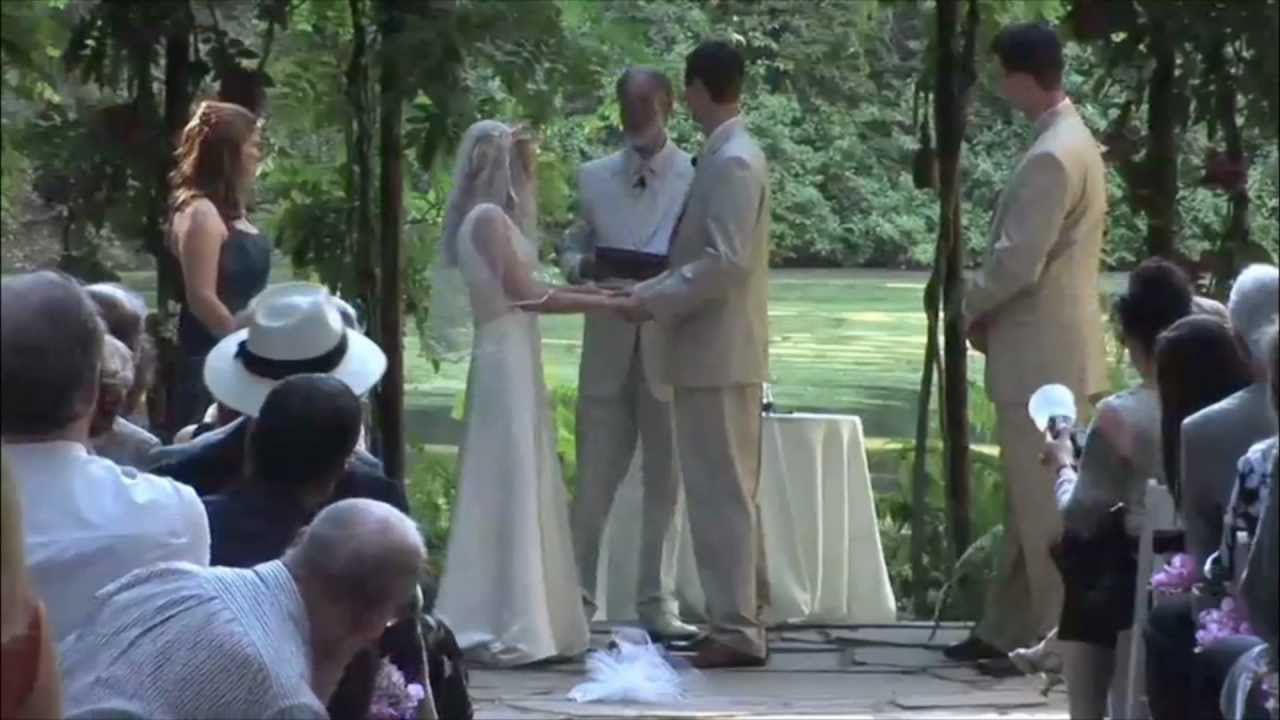 Outdoor Forest Wedding Ceremony In San Jose, Ca Area