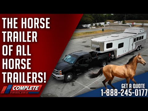 The NEW KING Of Horse Trailers! Twister 4 Horse W/10′ Short Wall LQ And Mid Tack