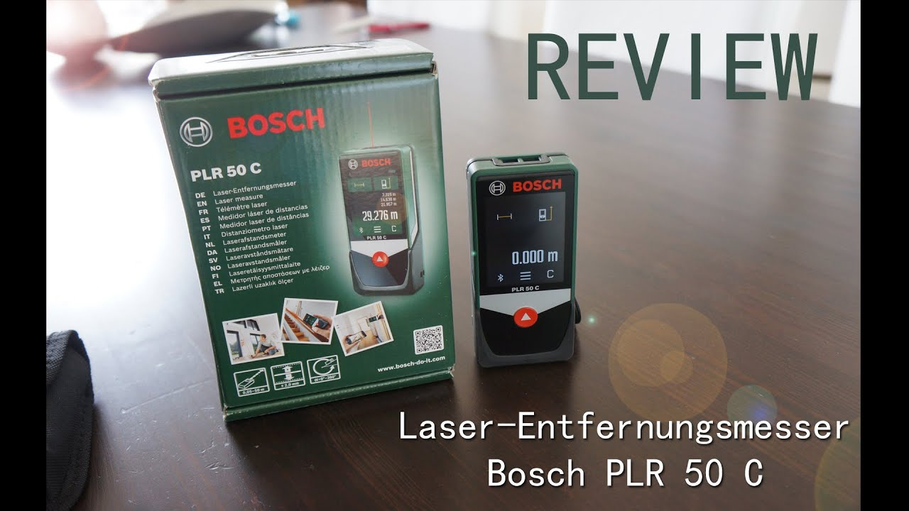 Review bosch laser entfernungsmesser plr c mit bluetooth youtube