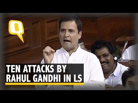 PM Modi's 'Jumla Strikes' & More: 10 Attacks by Rahul Gandhi in LS | The Quint