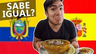 Cómo es la comida ECUATORIANA en España 🇪🇦