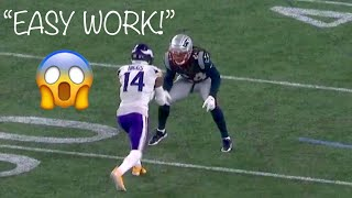 "Stefon Diggs vs Stephon Gilmore ""EASY WORK"" WR vs CB (2018)"