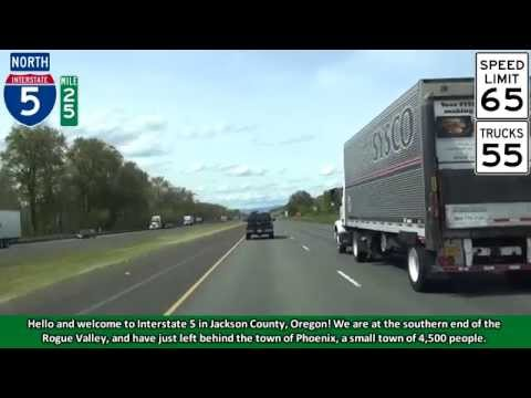 Interstate 5 North in Medford, Oregon &  The Rogue Valley