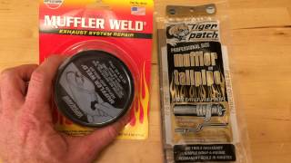 how to patch a muffler cheap and easy