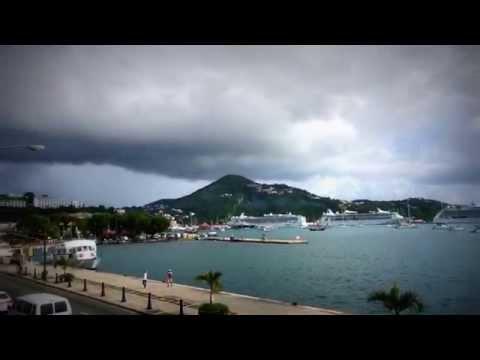 Seaplane taking off from Charlotte Amalie harbor St Thomas
