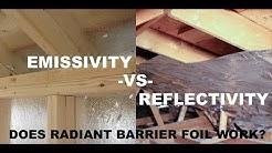 Radiant Barrier Department Of Energy - Reflectivity vs Emissivity