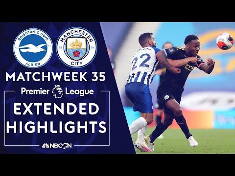 Brighton v. Manchester City | PREMIER LEAGUE HIGHLIGHTS | 7/11/2020 | NBC Sports