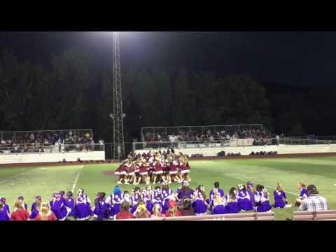 Calaveras high school cheer performance against Escalon 9-2-16