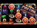 Ultimate Fire Link Slot Machine $10 Max Bet Bonus & ✦BIG WIN ✦ | Live Slot Play w/NG Slot