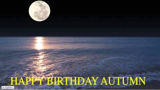 Autumn  Moon La Luna - Happy Birthday