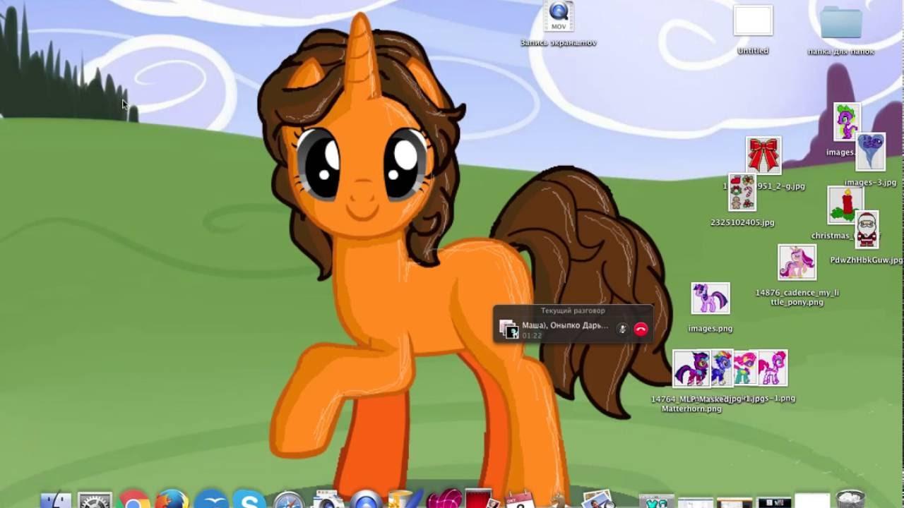 видео общаюсь по скайпу с пони