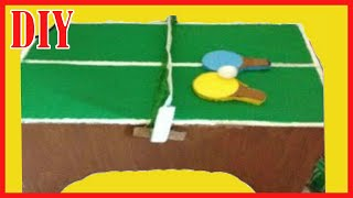 Diy Miniature dollhouse Table Tennis | Doll Table Tennis Table | Ping Pong Table Tutorial