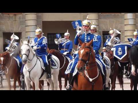 Stockholm Palace Mounted Cavalry Band Modern Performance