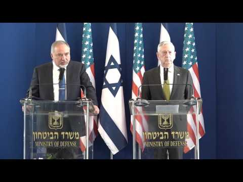 Minister Lieberman and SecDef Mattis press conference Tel Aviv April 21, 2017