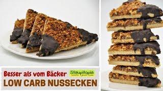 Sie schmecken besser als aus jeder Bäckerei! Low Carb Nussecken ganz einfach selber machen