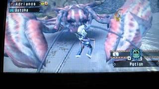 MHFU Adrian VS Hermitaur Daimyo Rang Sup ( Monstre + ) // Massacre d'un Crabe Miam !
