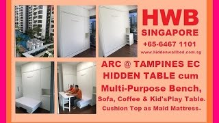Hwb™® Hidden Table. Arc @tampines Ec.+ Multi-purpose Bench/sofa/coffeetable/kid's Dining &playtable