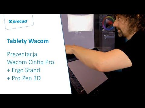 Prezentacja Wacom Cintiq Pro + Ergo Stand + Pro Pen 3D