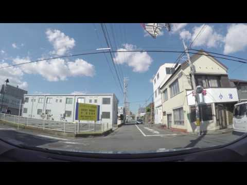 Driving in Japan: Around the sides streets of Hamamatsu