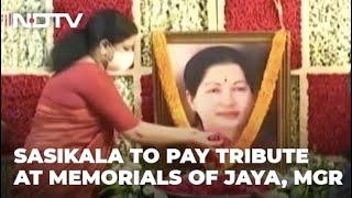 VK Sasikala, Who Quit Public Life, Returns To Jayalalithaa Memorial