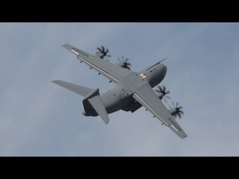 Airbus A400M Atlas flying Display at RIAT 2014 Saturday 12 July Air Show