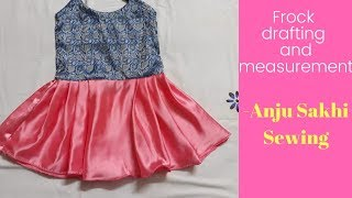 Baby frock design 2 Drafting and measurement