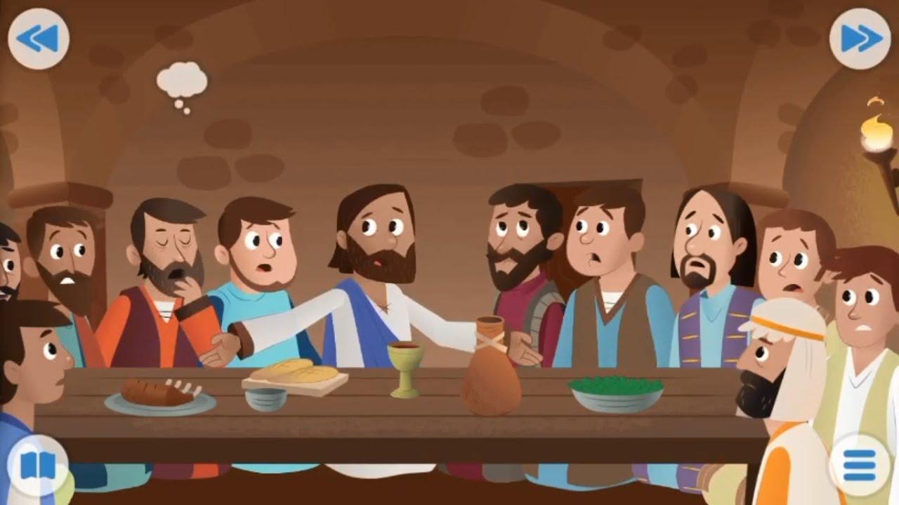 Biblia para Niños - La última cena de Jesús - Juan 13