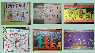 Holi School notice board decoration ideas    amazing display board ideas for school on holi