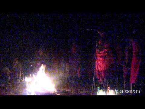 Masai people singing and dancing Kenya