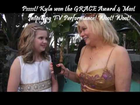 Raising Izzie star Kyla Kenedy at MovieGuide Awards! My Cyndi's Secrets! Shhhh!