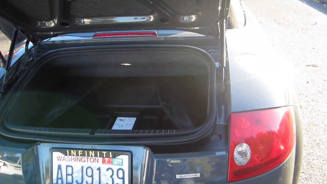 2001 Audi Tt Dark Gray Stock 13961c Trunk