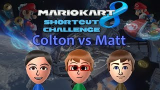 Mario Kart 8 - Colton vs Matt - 10 Level Shortcut Challenge