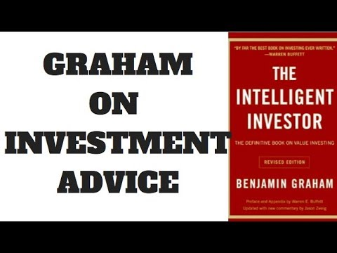 THE INTELLIGENT INVESTOR - BOOK SUMMARY - INVESTMENT ADVICE
