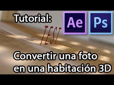 Tutorial de after effects convertir una foto en una for Habitacion 3d after effects