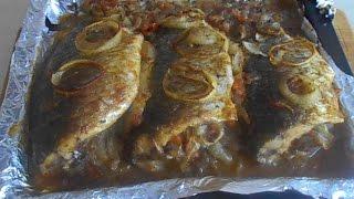 Рыба в духовке фаршированная луком и морковью. Лучший рецепт!