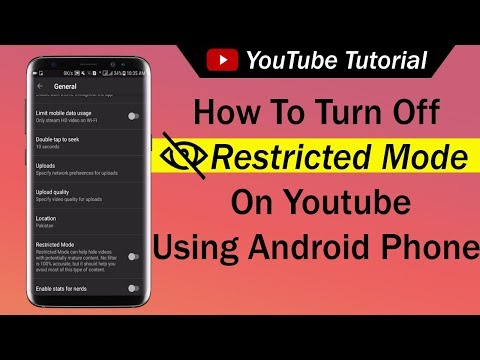 How To Turn Off Restricted Mode On Youtube Using Android Phone