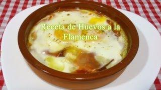 Cómo hacer Huevos a la Flamenca, receta fácil/rápida