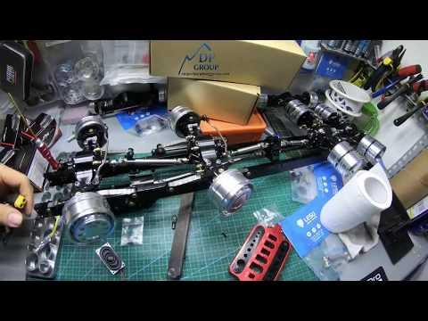 Quá trình lắp ráp chassis xe tải   How to build kit 8x8 rc truck  