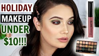 Makeup UNDER $10 DOLLARS! Holiday Green Makeup Tutorial