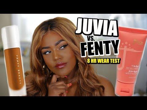 JUVIA'S PLACE VS FENTY BEAUTY FOUNDATION   8HR WEAR TEST thumbnail