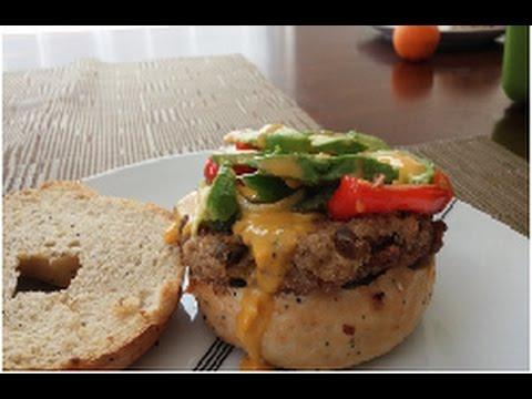What can a vegan eat for breakfast that's NOT sweet? A Lentil-Potato Bagel Breakfast sandwich :)