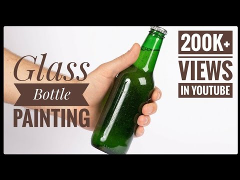 DIY | Glass Bottle Craft 1| best out of waste | Home decoration idea | Hand painted bottle
