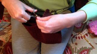 Ушки детских шапок крючком