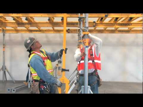 Forming Concrete Floors - Dokaflex S, flexible hand set formwork system for floor slabs
