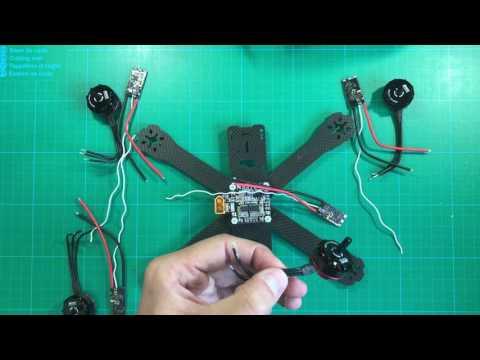 #3 - Cómo montar un drone de carreras paso a paso - PDB, variadores y motores